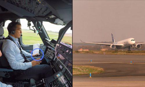 Flugzeug hebt ohne Piloten ab