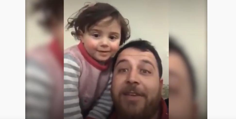 Video: Syrischer Vater lernt dreijähriger Tochter über Bomben zu lachen